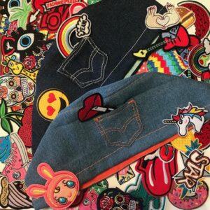 Cuffie in jeans + Patch by Cuffiosa