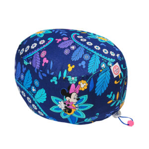 Cuffia chirurgica in cotone Minnie Topolino fiori su blu