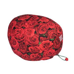 Cuffia chirurgica in cotone Rose rosse