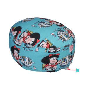 Cuffia chirurgica in polycotton Mafalda e Mondo Malato