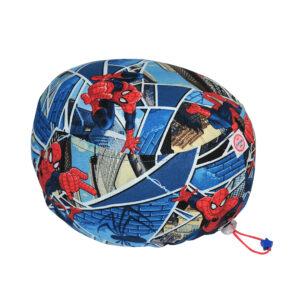 Cuffietta chirurgica in cotone Spiderman triangoli