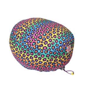 Cuffia chirurgica in cotone Animalier multicolor neon
