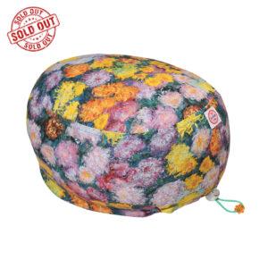 Cuffia chirurgica Monet fiori realizzata a mano da Cuffiosa