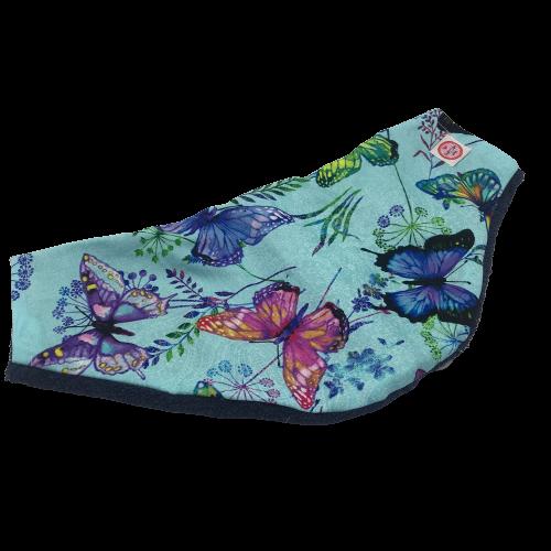 Copricollare A RX tiroideo Farfalle multicolor su azzurro