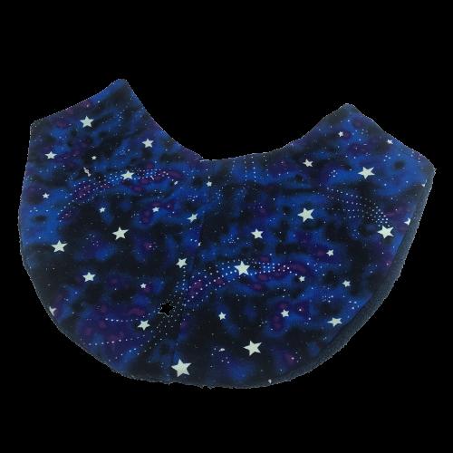 Copricollare RX Tiroideo Modello F by Cuffiosa Stelle fosforescenti blu