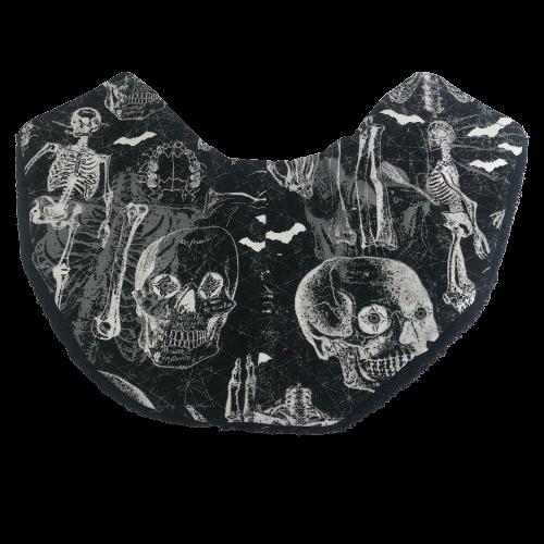 Copricollare RX Tiroideo Modello F by Cuffiosa Scheletro umano e ossa su nero