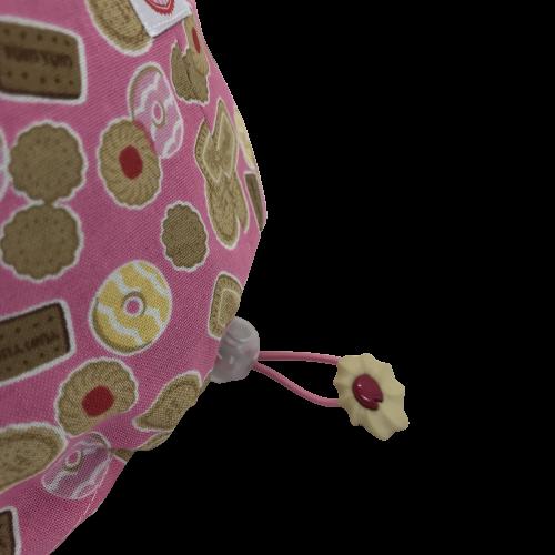 Cuffia chirurgica in cotone Biscotti su rosa particolare ciondolo speciale