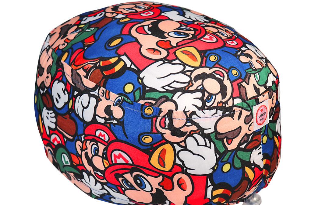 Cuffia chirurgica Nintendo Super Mario e Luigi polycotton