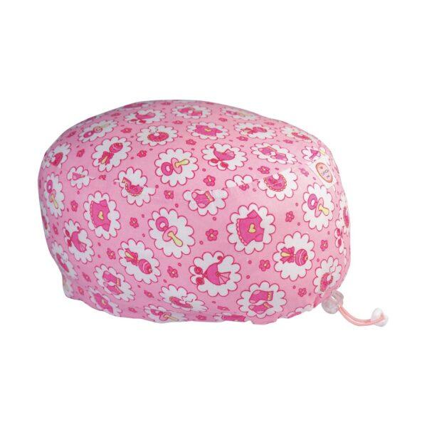 Cuffia chirurgica in cotone ciucci rosa